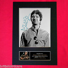 NOEL GALLAGHER Autograph Mounted Signed Photo RE-PRINT A4 75