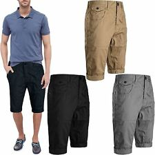 Mens Crosshatch Branded Kractus Casual Chino Combat Summer Smart Slim Fit Shorts