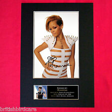 RIHANNA Autograph Mounted Signed Photo RE-PRINT A4 246