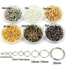 4/5/6/7/8/10/12MM  Wholesale Open Jump Rings Connectors Beads For Jewel Making