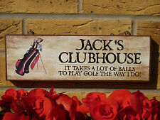 PERSONALISED GOLFER SIGN HOUSE PLAQUE GARDEN SIGN OWN NAME SIGN OWN WORDING SIGN