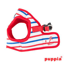 Dog Puppy Harness Soft Vest- Puppia - Capitane - Red - Choose Size