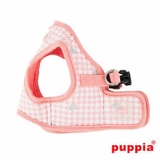 Dog Puppy Harness Soft Vest- Puppia - Aggie - Indian Pink - Choose Size