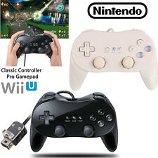 Classic Wired Game Controller Remote Pro Gamepad Shock For Nintendo Wii / Wii U