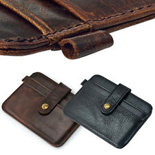 Men Faux Leather Slim Money Clip Wallet ID Credit Card Holder Case Great Cool