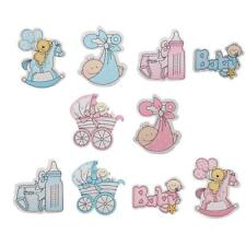 10pcs Wooden Its a Boy/Girl Themed Card Making Scrapbooking Craft Embellishments