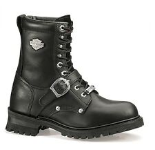 "Harley-Davidson® Men's 7.5"" Faded Glory Black Leather Motorcycle Boots D91003"