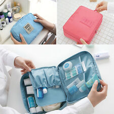 Travel Makeup Square Toiletry Case Wash Organizer Storage Pouch Hanging Bag 6MS