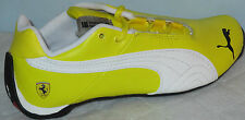 PUMA FUTURE CAT LEATHER SCUDERIA FERRARI -10-JR YELLOW/WHITE BOY SHOES SIZE 2
