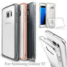 Hybrid Shockproof Bumper Crystal Clear TPU Hard Case Cover For Samsung Galaxy S7