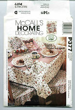 Laura Ashley McCALL's HOME DECORATING Pattern P377 Table Accents UNCUT
