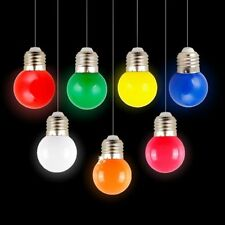 Mini Colorful 1W E27 AC 220V LED Light Round Lamp Globe Golf Bulb in 5 Colors
