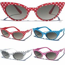 Polka Dot Design Cat Eye Glasses Vintage Style Retro Frame Eyewear Sunglasses