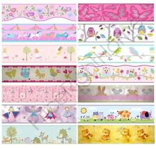 GIRLS GENERIC BEDROOM WALLPAPER BORDERS BUTTERFLY FLOWERS BIRDS WALL DECOR KIDS