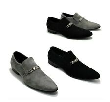 FASHION MENS DRESS FORMAL SHOES FAUX SUEDE BRITISH POINTED TOE SLIP ONS LOAFERS