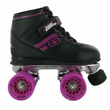 No Fear Womens Ladies Derby Quad Skates Ribbed Roller Wheeled Lace Up Sports