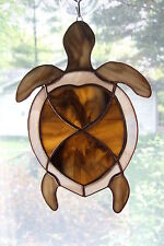 Handmade Stained Glass TURTLE SUNCATCHER (TUR33)