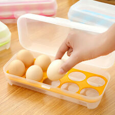 Utility Plastic Refrigerator Egg Storage Box Case Eggs Holder Storage Container