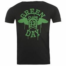 Official Mens Green Day T Shirt Graphic Printed Music Band Crew Neck Tee Top