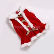 Pet Dog Puppy Christmas Warm Dress Costume Outfit Clothes Coat Apparel XS-L