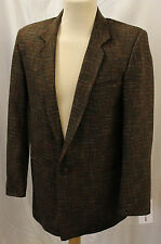 mens Mans 1950s Brown Atomic Fleck Box Jacket Rockabilly Rock n Roll 50's swing