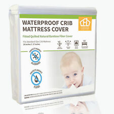 AC Pacific Waterproof Bamboo Fabric Crib Mattress Protector with Pad Liner