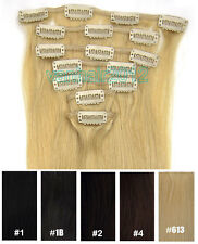 """New 24""""PREMIUM Clip in Remy Human Hair Extensions 7PCS 100g Full Head Straight"""