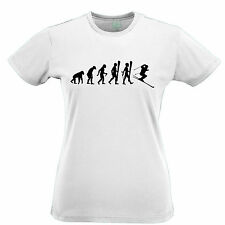 Evolution of Skiing Snow Skis Cross Country Womens T-Shirt