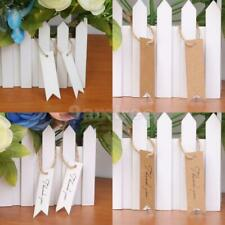 100pcs Wholesale Blank/thank you Hang Tags Wedding Party Favor Label Gift Cards