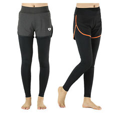 Womens Athletic Running Yoga Fitness Gym Leggings Compression Pants Shorts