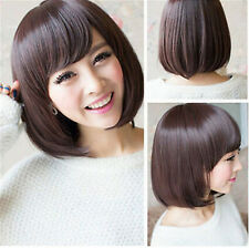 Fashion Short Straight Bob Hair Full Wigs Women Lady Cosplay Party Wig FH