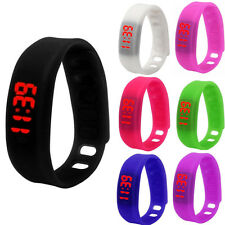 Women Mens Fashion Silicone LED Watch Date Sports Bracelet Digital Wrist Watches