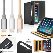 For Apple iPad Air / iPad Air 2 Magnetic Leather Stand Case +MFi Lightning Cable