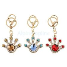 Fashion Crystal Rhinestone Cartoon Palm Keychain Key Ring Bag Charm 3 Colors