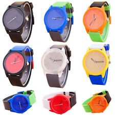 Fashion Casual Sport  Men Women Silicone Watch Quartz Jelly Color Wrist Watch