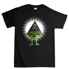 Illuminati Monster Eye Funny Gift Present T shirt Tee Top T-shirt