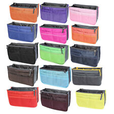 Portable Cosmetic Makeup Storage Handbag Tote Insert Purse Organizer Pouch Bag