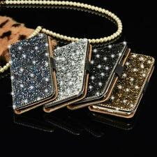 Luxury Bling Metal Crystal Diamond Wallet Flip Case Skin Cover For iPhone 6 6s