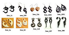 50pcs-100pcs Multi Wooden Ebony Coco Boho Hippie Earrings Wholesale Lot (GNJ122)