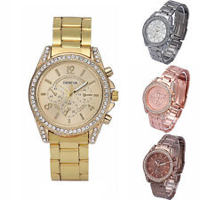 Women's Watch Fashion Geneva Crystal Stainless Steel Analog Quartz Wrist Watch