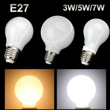 E27 LED 3W 5W 7W Globe Round Light Bulb Lamp Screw Base Socket 110-220V