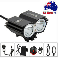 AU STOCK 6000Lm 2xCREE XML U2 LED Bicycle Bike Light HeadLight Lamp Taillight