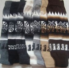 NEW 100% ALPACA WOOL LEGWARMERS, SIZE M, LEG WARMERS, ANDEAN WARM SOFT WINTER a