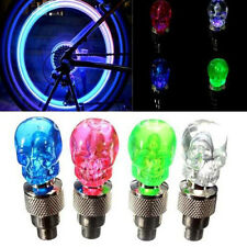 2x Motor Bike Car Tire Tyre Wheel Valve Cap LED Flash Light Lamp For Skull JGUS