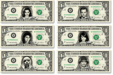 CELEBRITIES on REAL Dollar Bill Cash Money Memorabilia Collectible Bank Note V.3