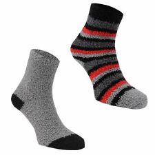 Mega Value Kids Boys 2 Pack Stripe Cosy Socks Clothing Winter Accessories