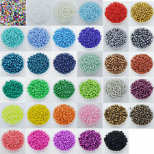Czech 1000pcs 16g 2mm Round Opaque Lot Colorful Glass Seed Beads Jewelry Making