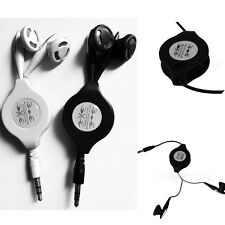 3.5mm Retractable Earbud Earphone Standard Headphone Fr Cell Phone iPod MP3 MP4