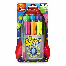 Mr. Sketch Scented Markers, Intergalactic Neon, Chisel Tip, Package Qty Choice