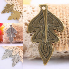 10Pc Tibetan Silver/Bronze Leaf Leaves Design Charms Pendant Beads Jewelry Craft